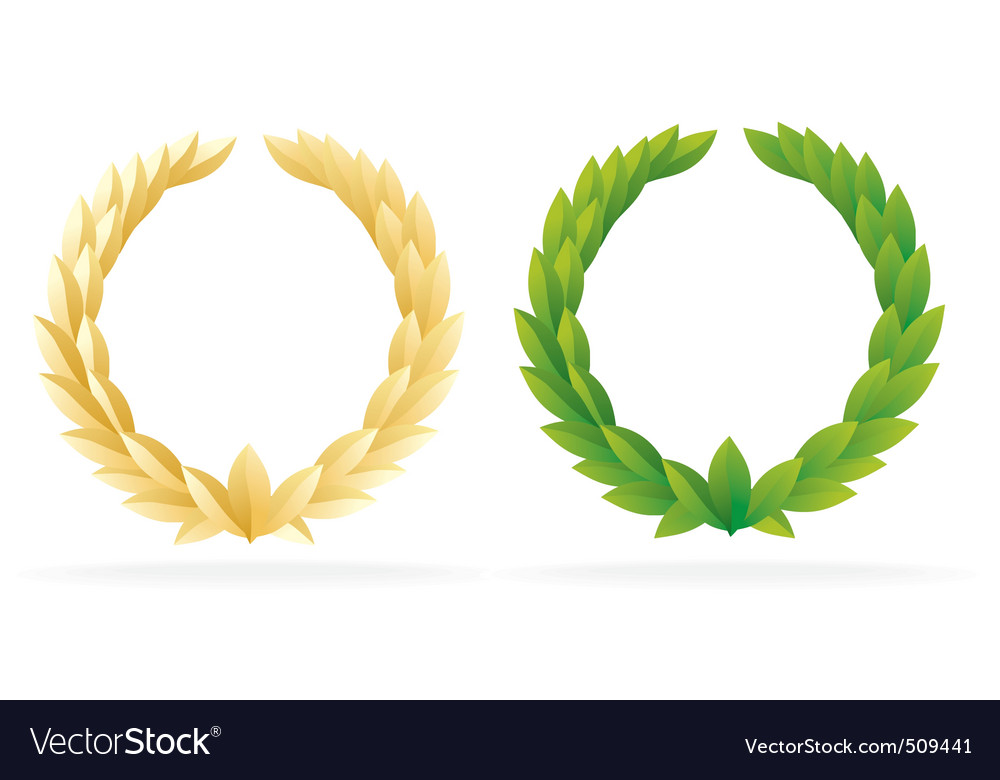 Award olive wreath vector | Price: 1 Credit (USD $1)
