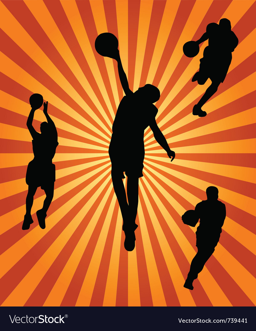 Basketball silhouette collection vector | Price: 1 Credit (USD $1)