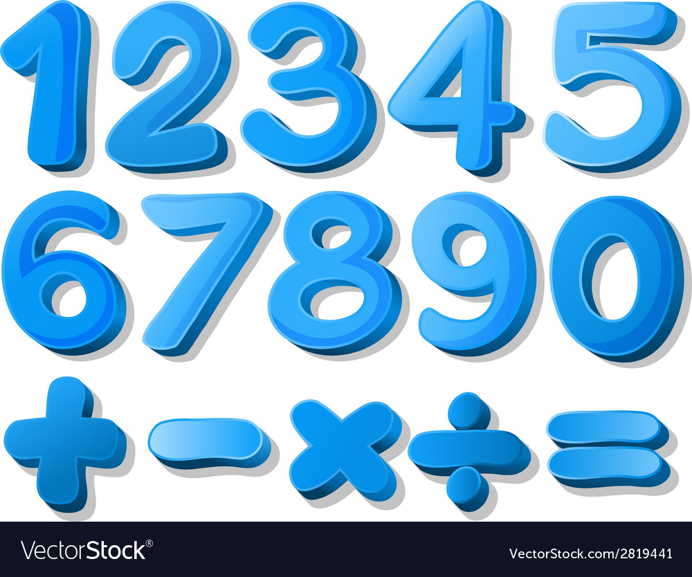 Blue number vector | Price: 1 Credit (USD $1)