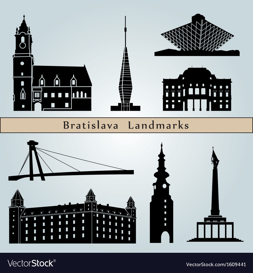 Bratislava landmarks and monuments vector | Price: 1 Credit (USD $1)