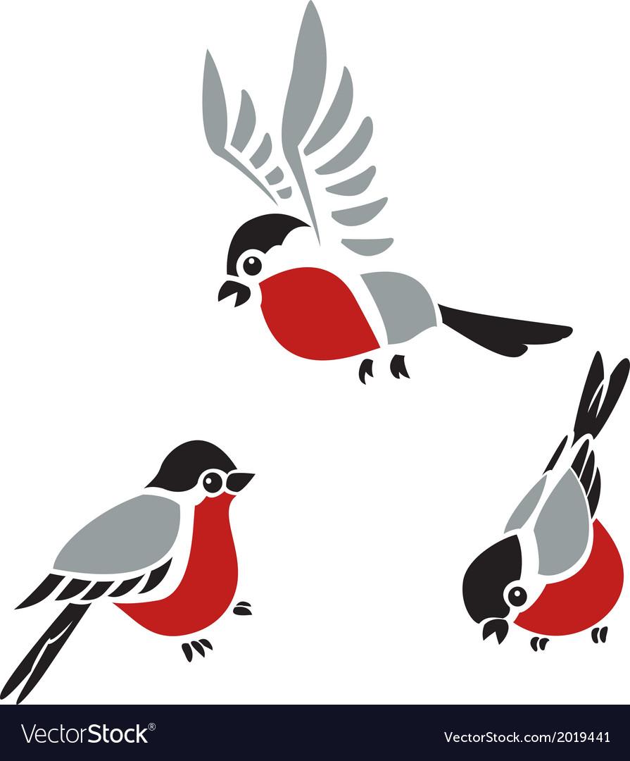 Bullfinches vector | Price: 1 Credit (USD $1)