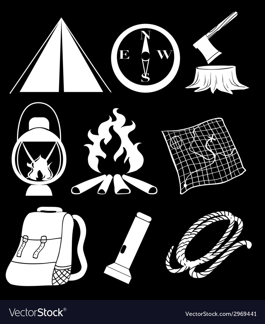 Camping materials vector | Price: 1 Credit (USD $1)