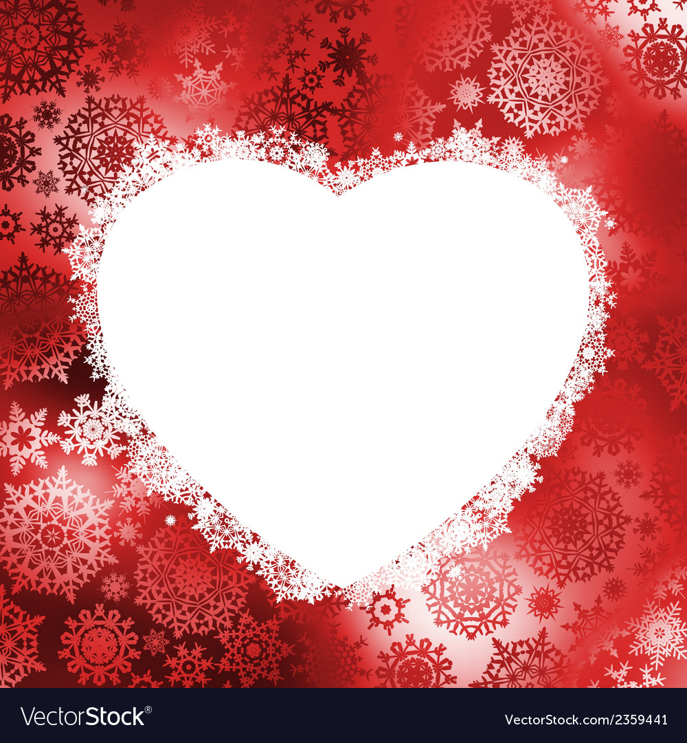 Christmas frame in the shape of heart eps 8 vector | Price: 1 Credit (USD $1)