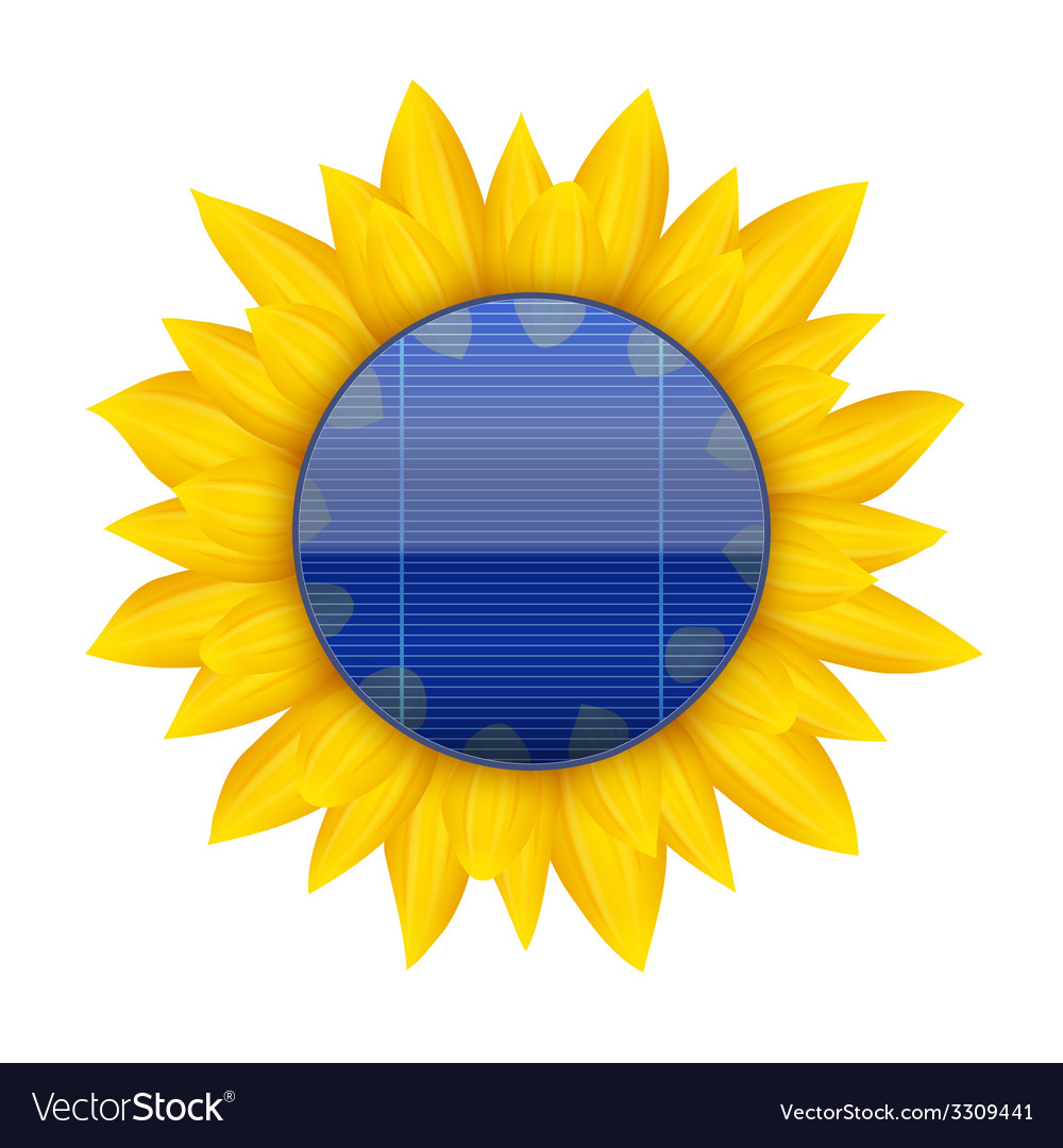Concept of blue electric solar panel with vector | Price: 1 Credit (USD $1)
