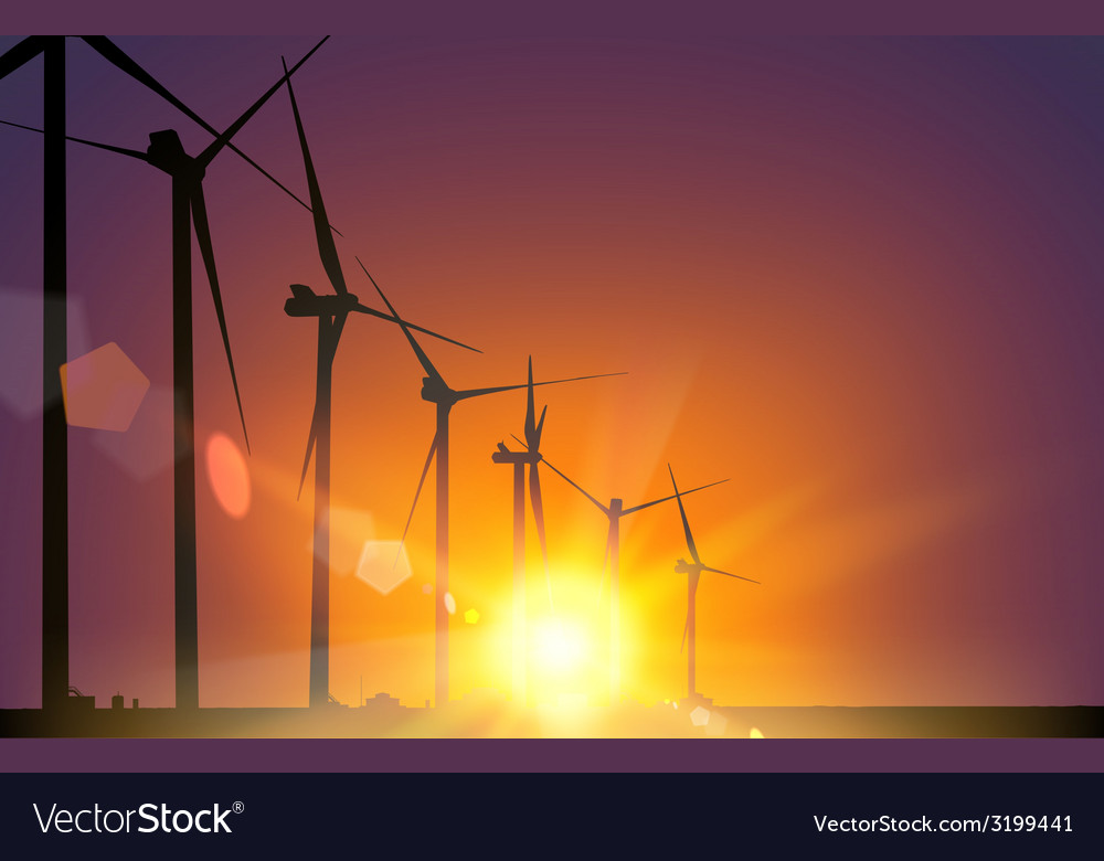 Electrical windmill vector | Price: 1 Credit (USD $1)