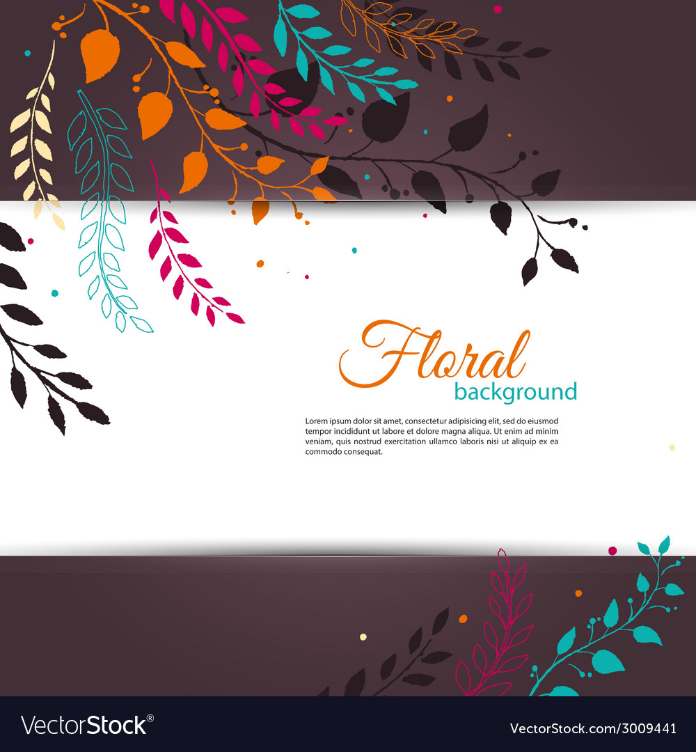 Floral design template vector | Price: 1 Credit (USD $1)
