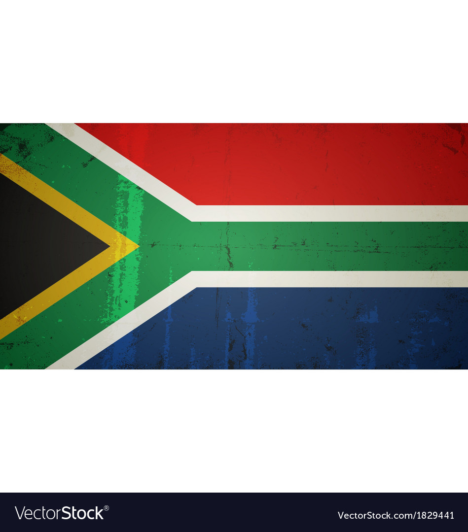 Grunge flags - south africa vector | Price: 1 Credit (USD $1)