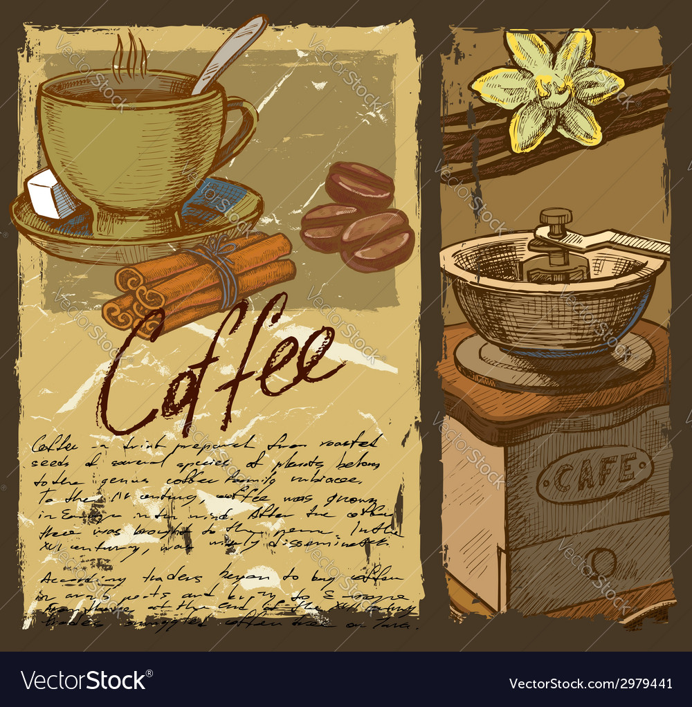 Hand drawn coffee vector | Price: 1 Credit (USD $1)