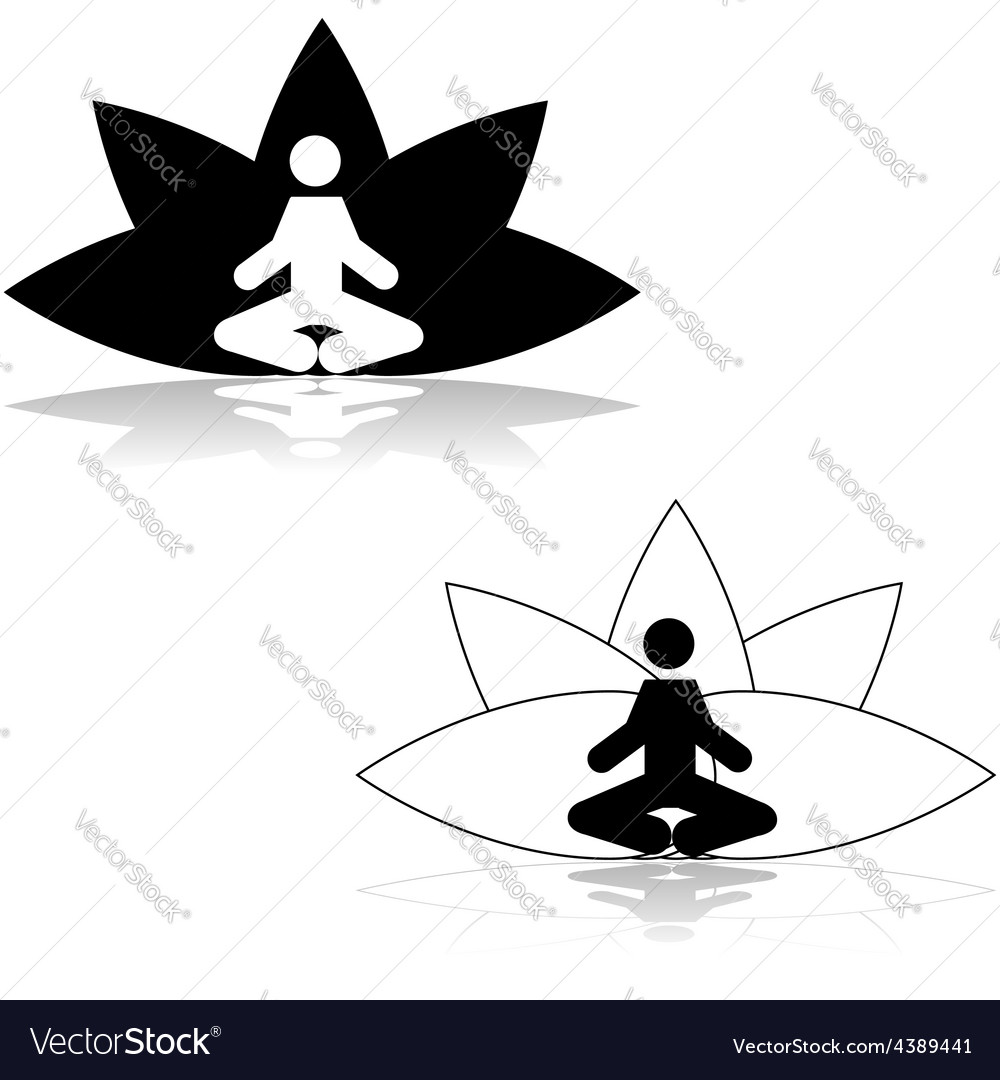 Lotus position meditation vector | Price: 1 Credit (USD $1)