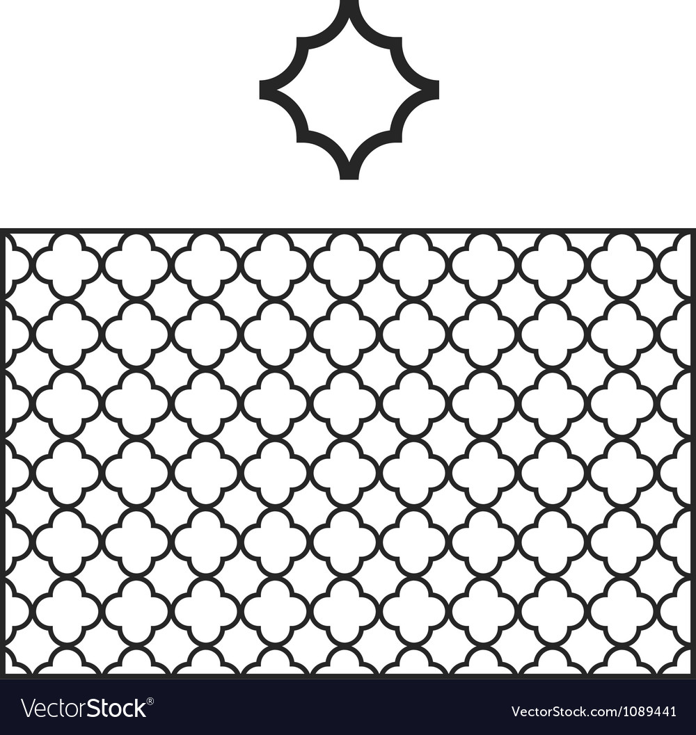 Quatrefoil pattern swatch vector | Price: 1 Credit (USD $1)