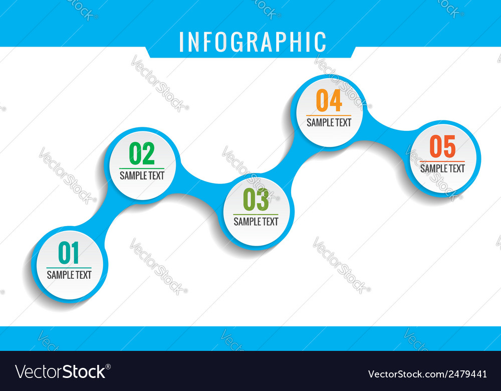 Simply infographic five steps template vector | Price: 1 Credit (USD $1)
