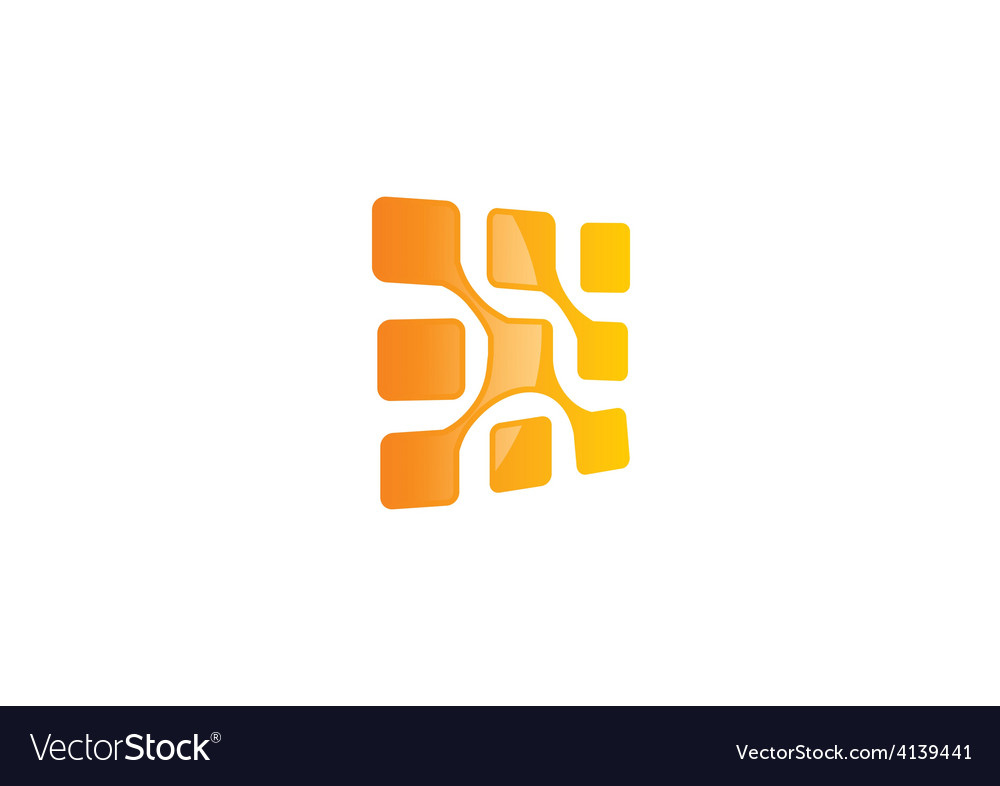 Square technology abstract logo vector | Price: 1 Credit (USD $1)