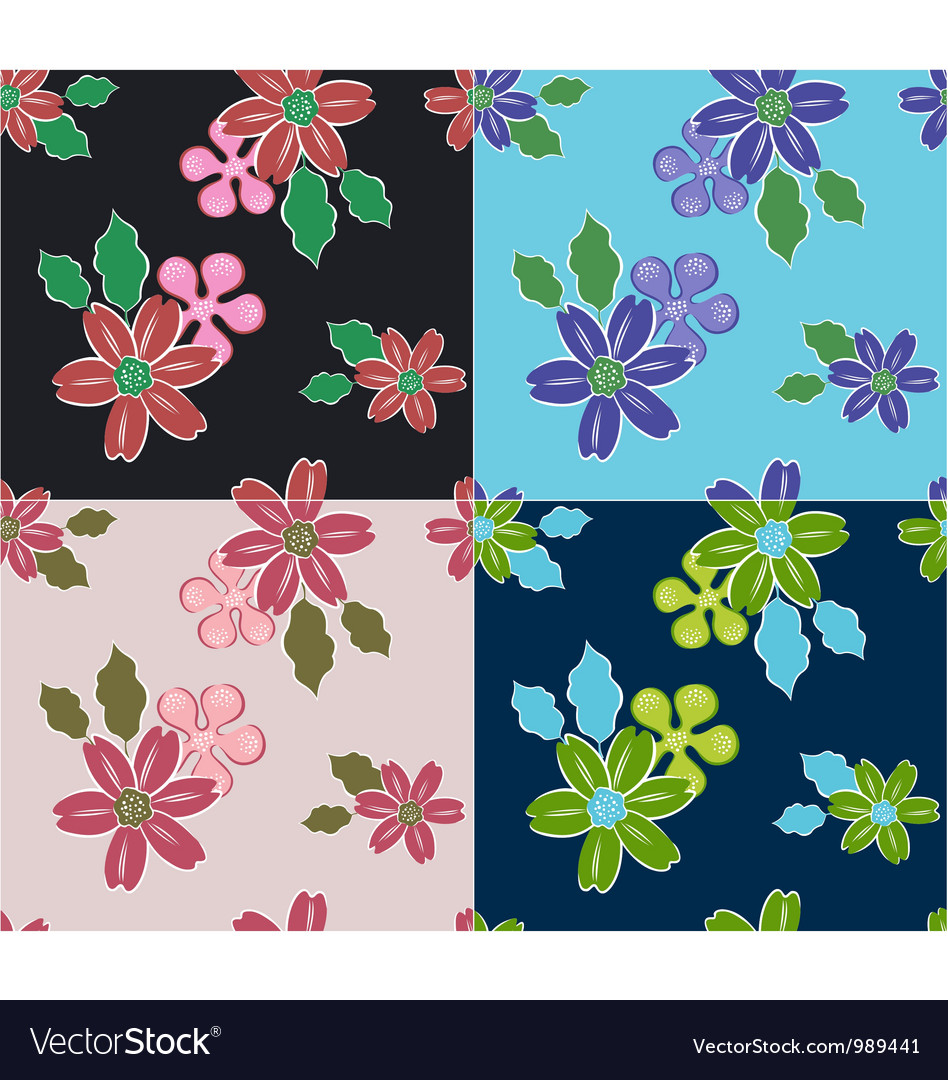 Summer flower pattern vector | Price: 1 Credit (USD $1)