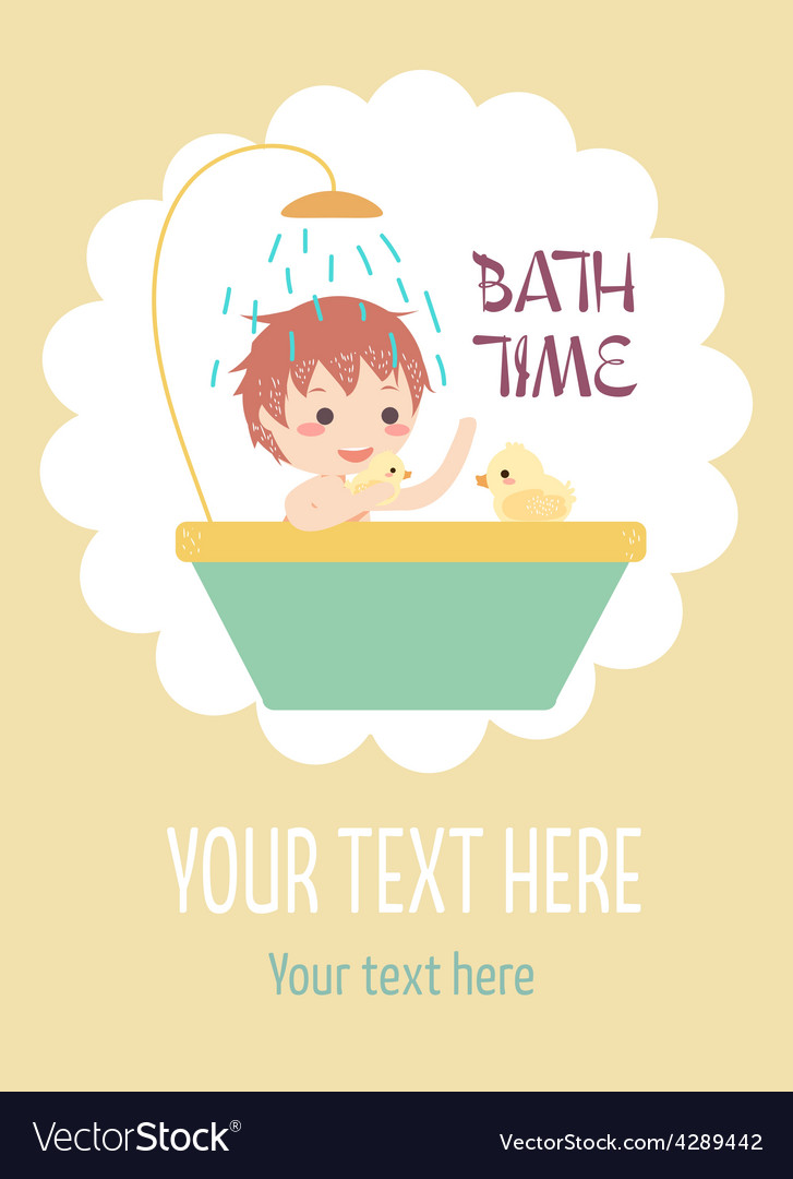 Boy bath with ducks vector | Price: 1 Credit (USD $1)