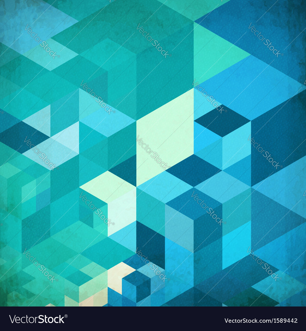Bright abstract cubes blue background vector | Price: 1 Credit (USD $1)