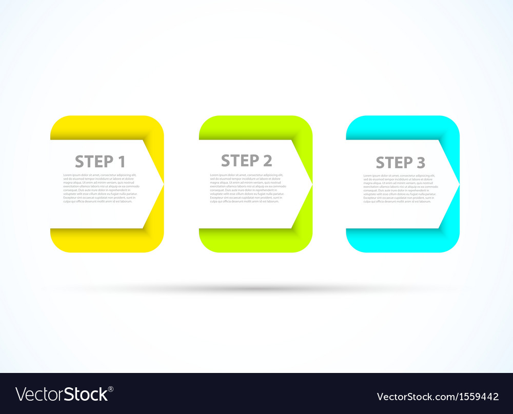 Bright step design vector | Price: 1 Credit (USD $1)