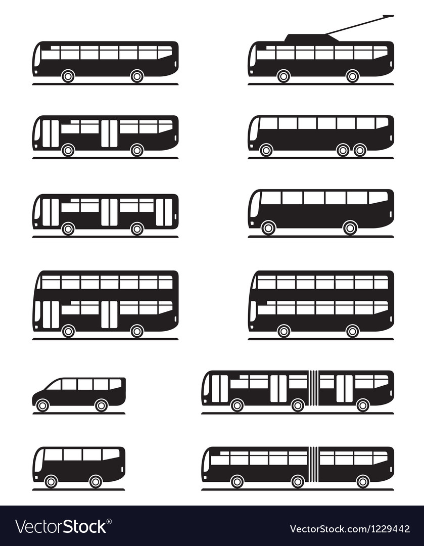 Buses and coaches vector | Price: 1 Credit (USD $1)