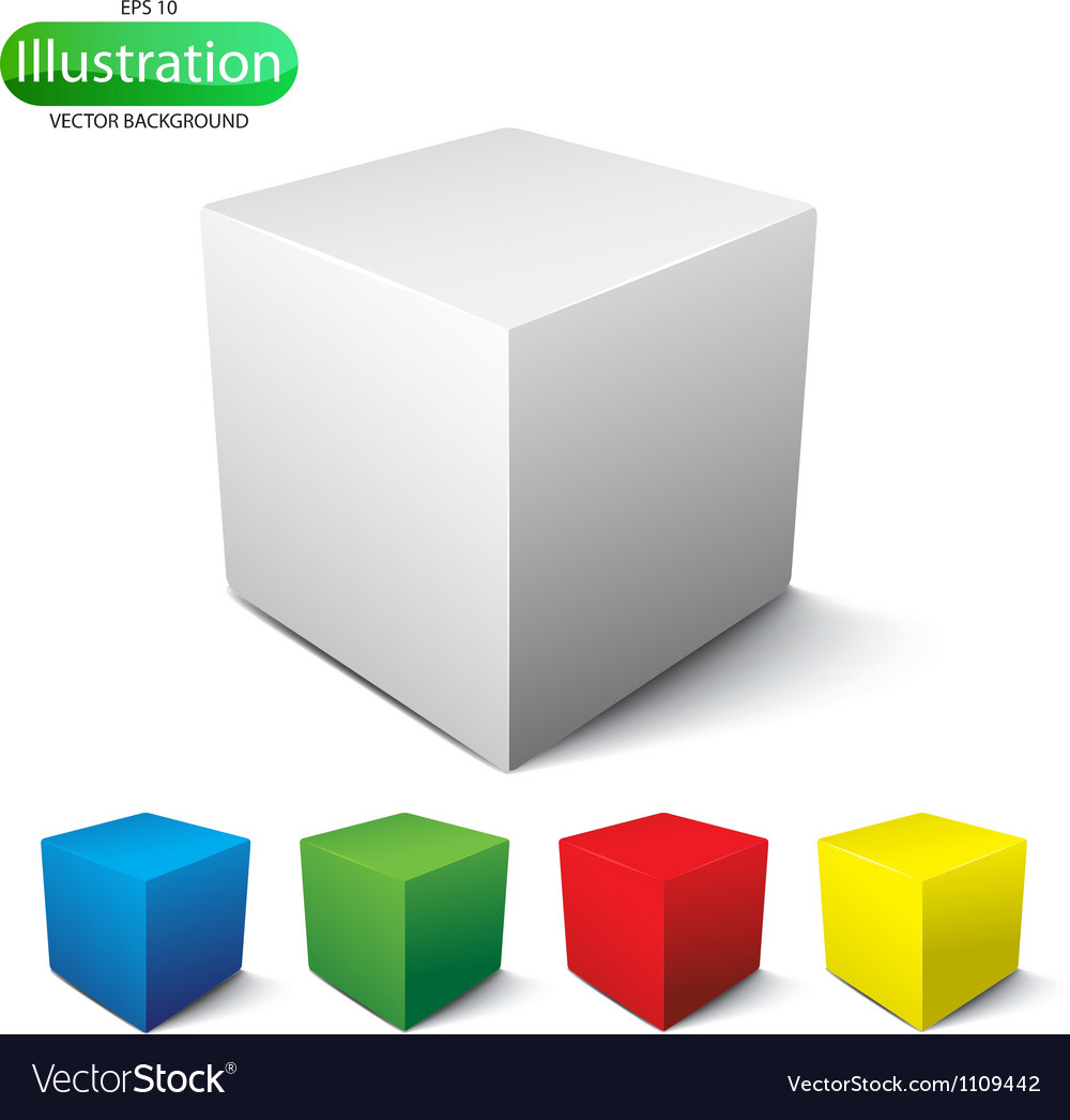 Cube on a white background vector