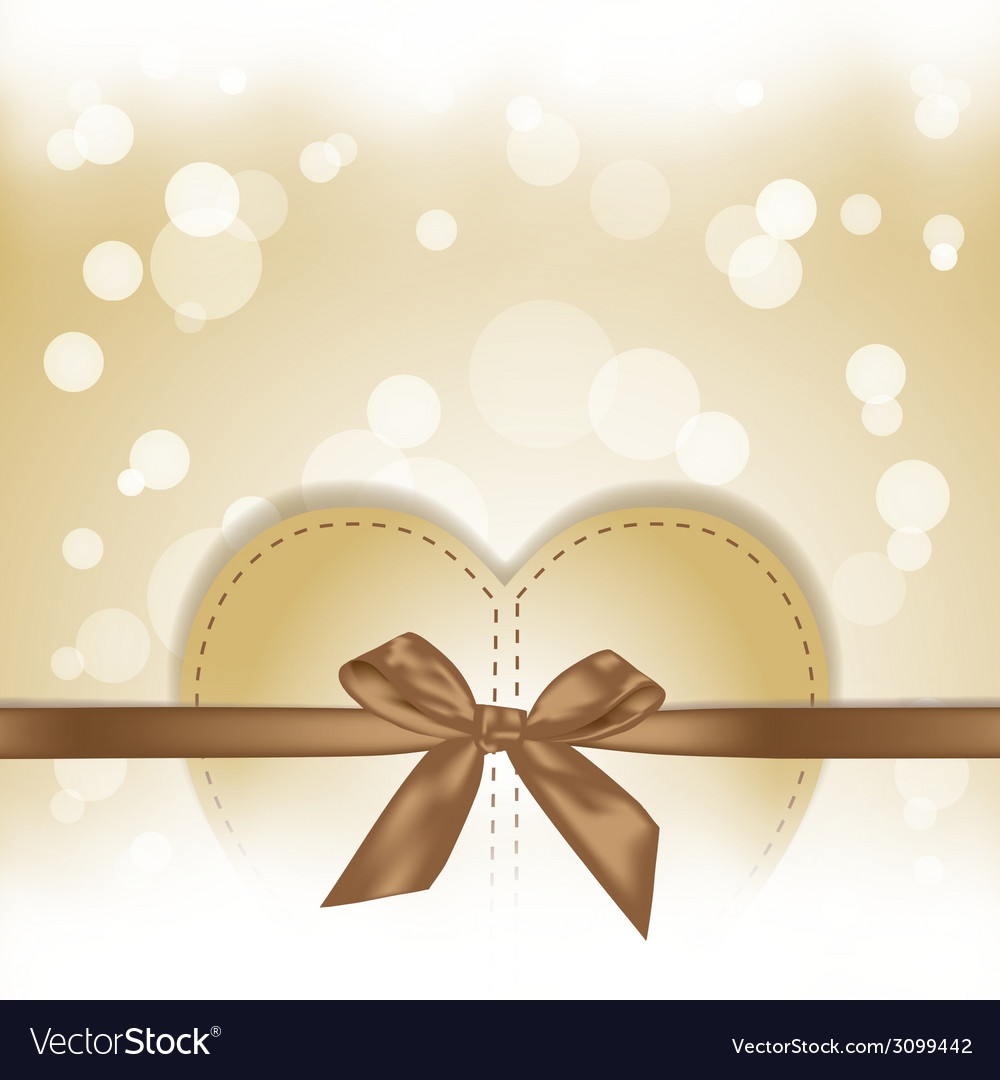 Golden hearts gift on magical background vector | Price: 1 Credit (USD $1)