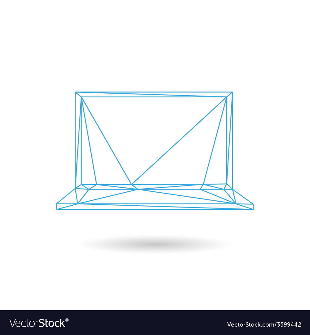 Laptop icon abstract vector | Price: 1 Credit (USD $1)