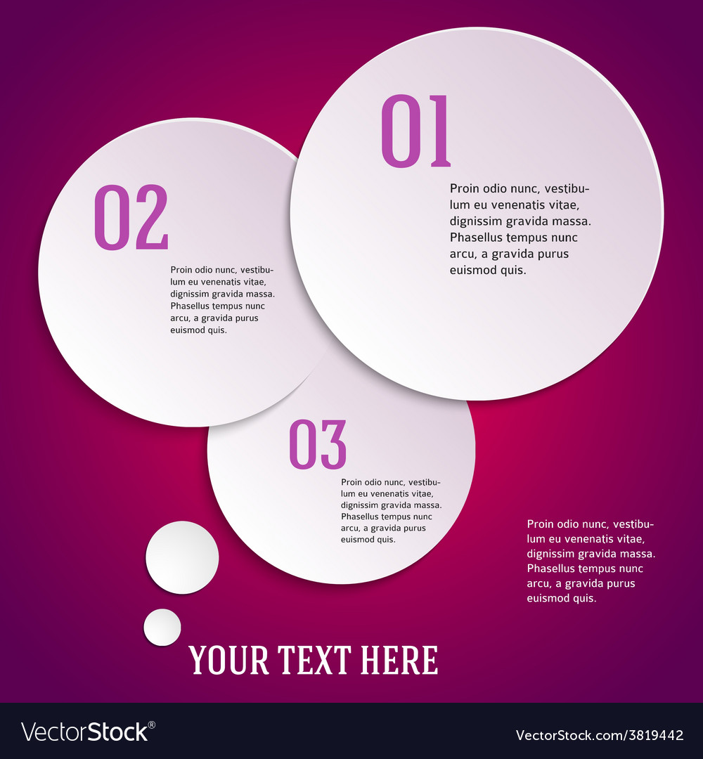 Purple page template presentation steps option vector | Price: 1 Credit (USD $1)