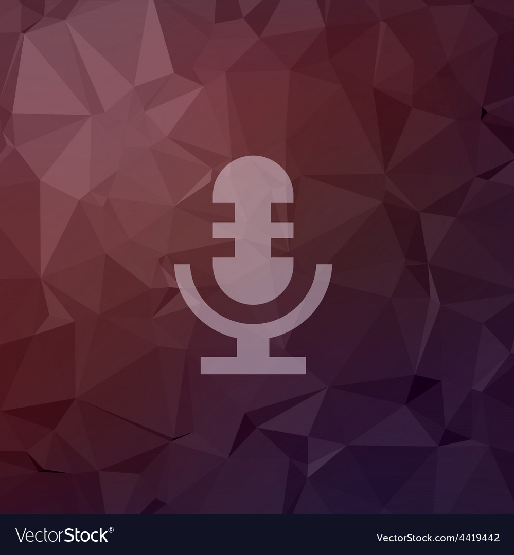 Retro microphone in flat style icon vector   Price: 1 Credit (USD $1)