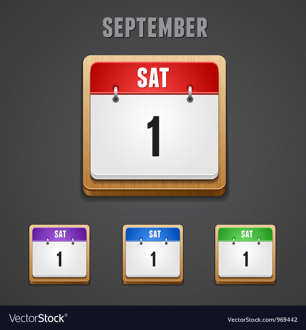 September 2012 calendar icons vector | Price: 1 Credit (USD $1)