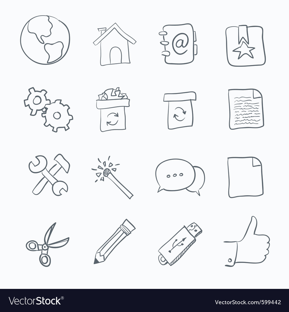 Sketch icon set vector | Price: 1 Credit (USD $1)