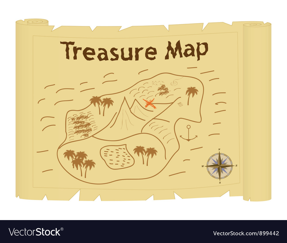 Treasure map vector | Price: 1 Credit (USD $1)