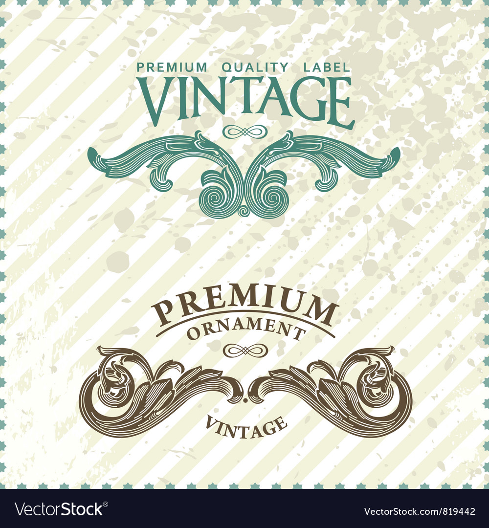 Vintage styled premium vector | Price: 1 Credit (USD $1)