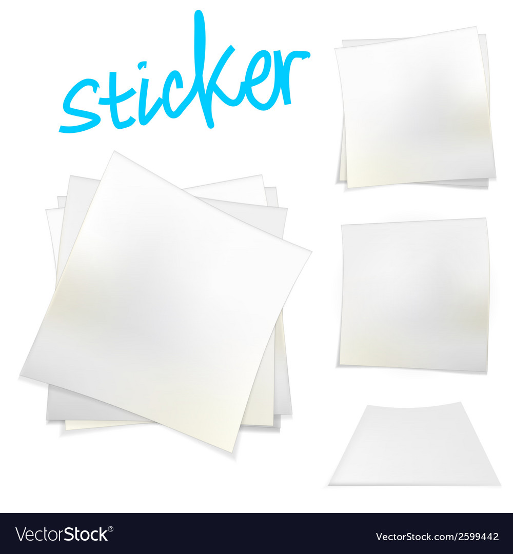 White stickers vector | Price: 1 Credit (USD $1)