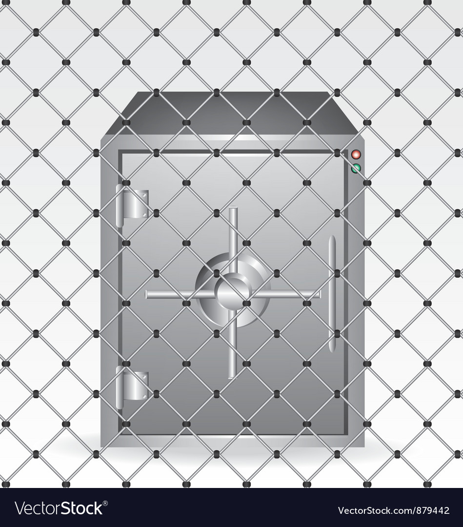 Wire and bank safe vector | Price: 1 Credit (USD $1)