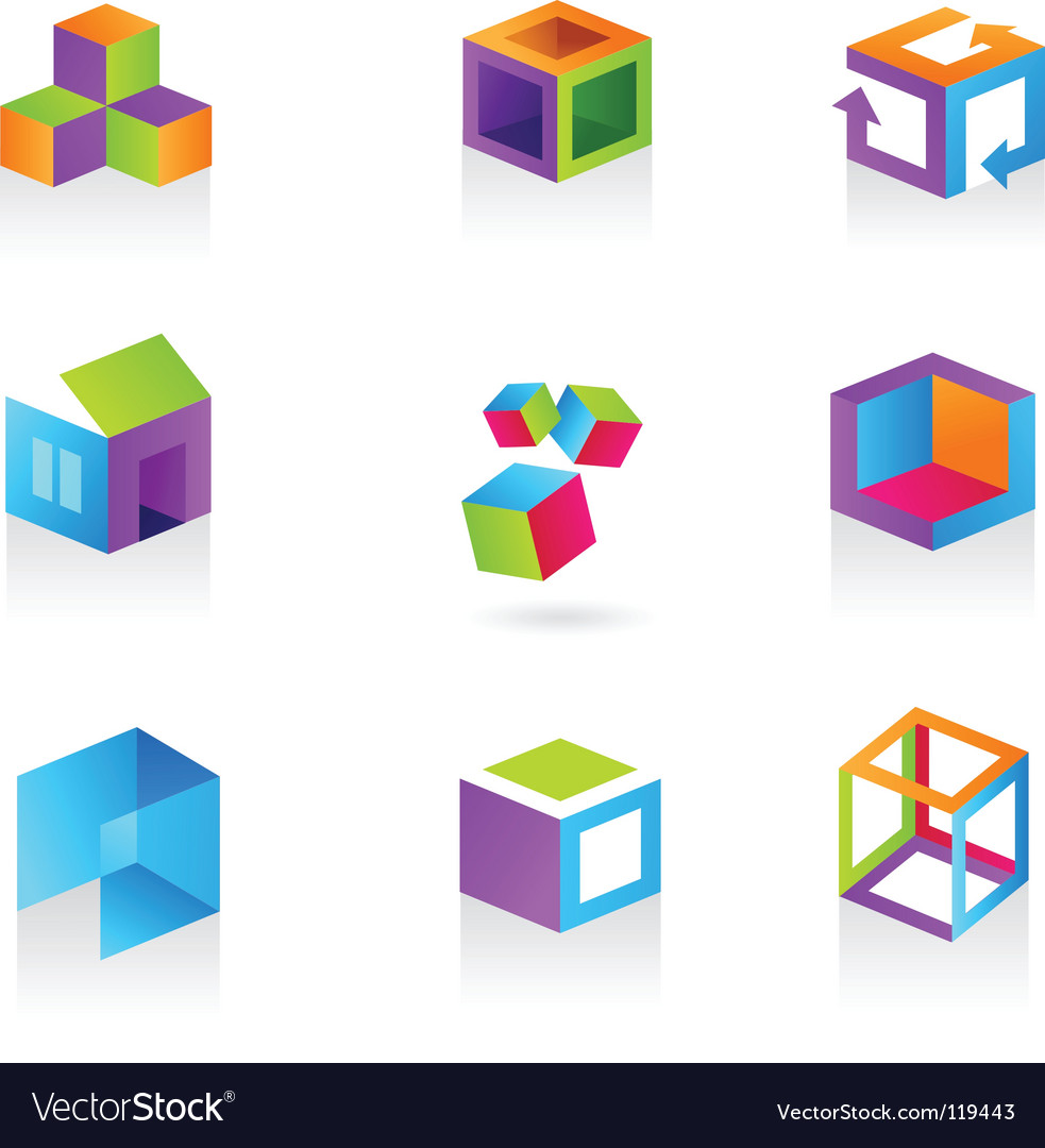 3d icons and logos vector | Price: 1 Credit (USD $1)