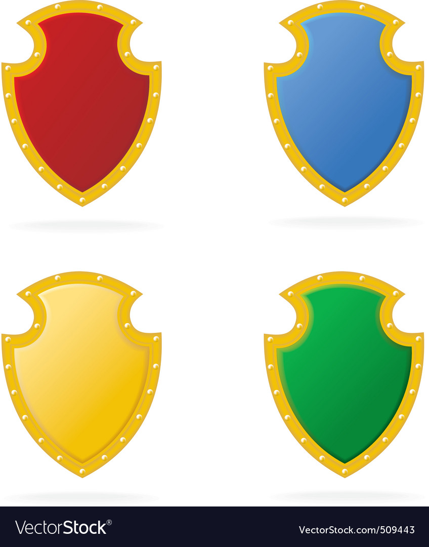 Award color shield vector | Price: 1 Credit (USD $1)