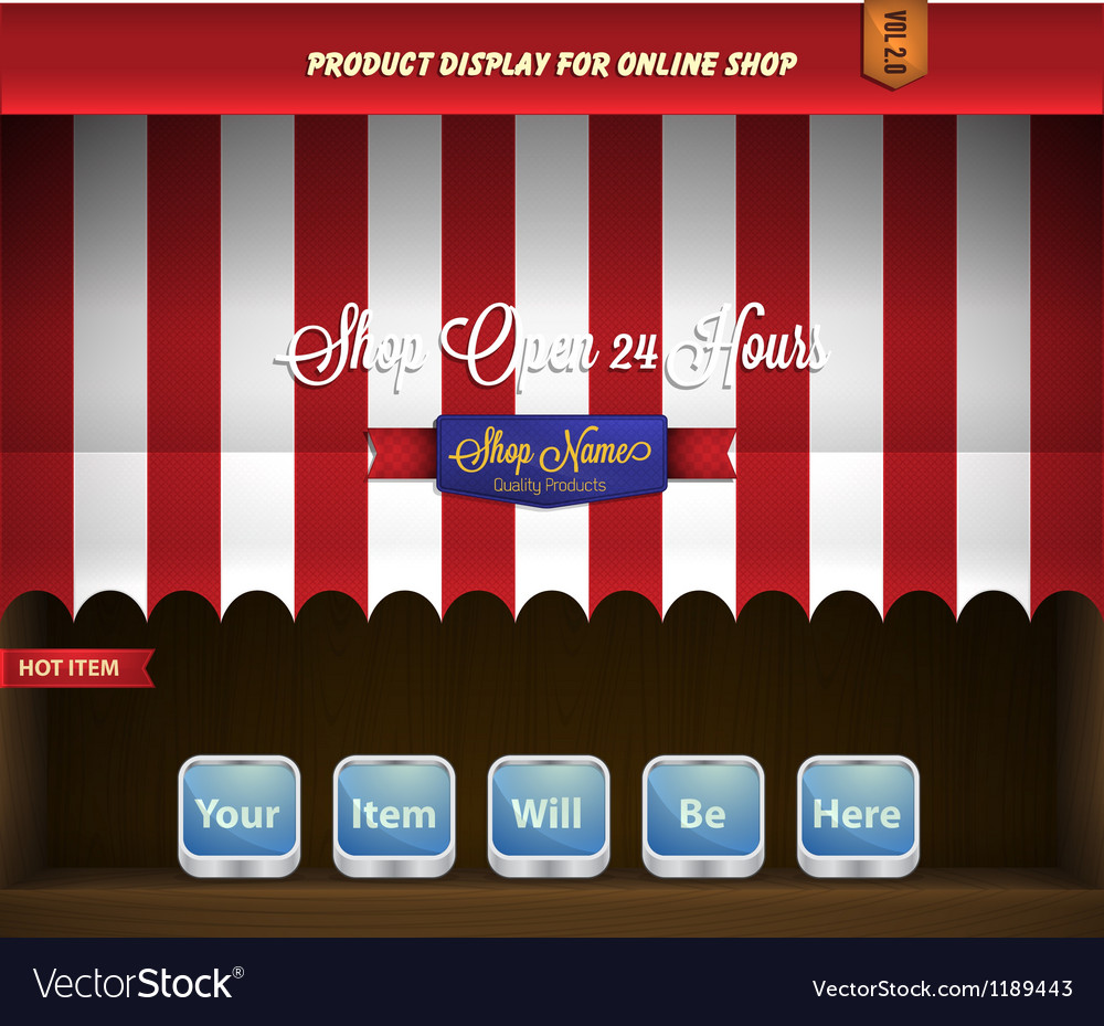Canopy product display vector | Price: 1 Credit (USD $1)