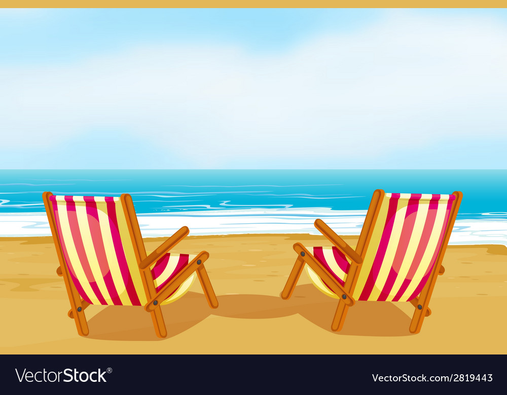 Chairs on beach vector | Price: 1 Credit (USD $1)