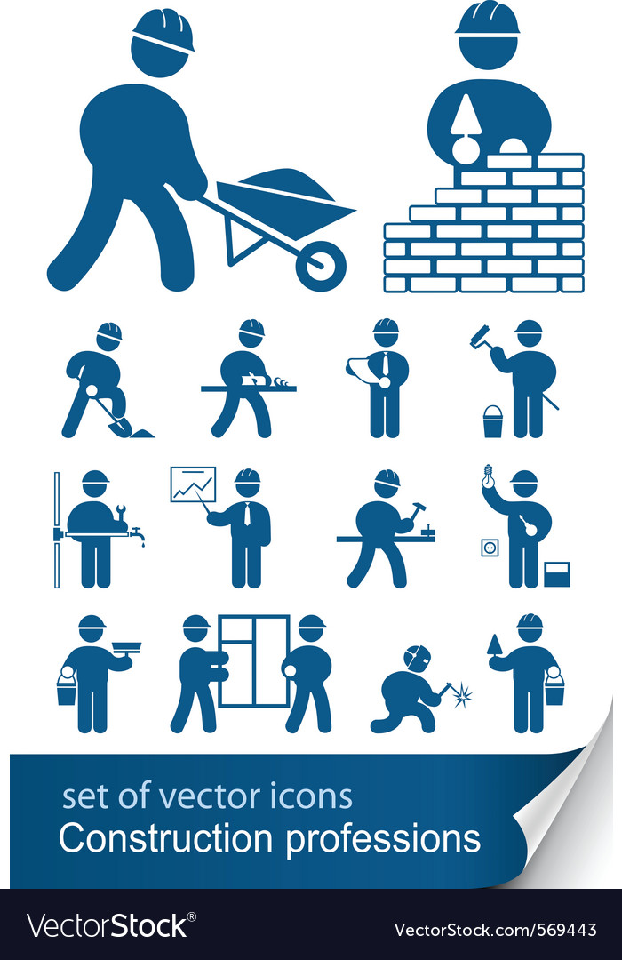 Construction professions vector | Price: 1 Credit (USD $1)