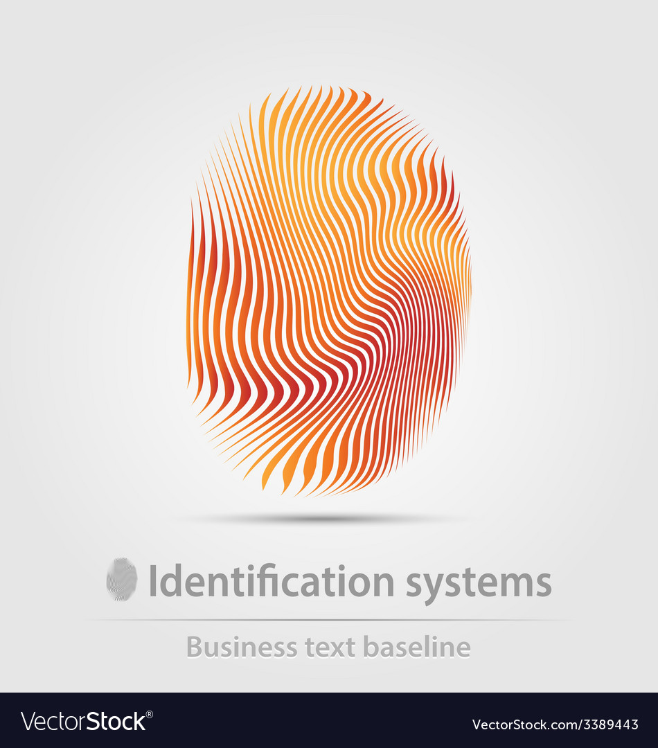 Identification systems business icon vector | Price: 1 Credit (USD $1)