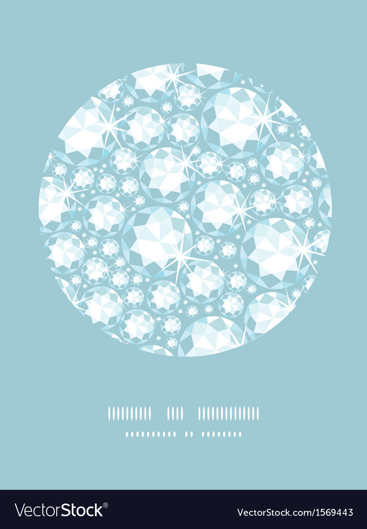 Shiny diamonds circle decor pattern background vector   Price: 1 Credit (USD $1)