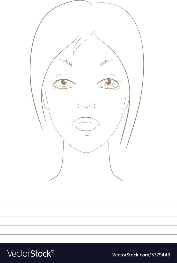 Visage sketch vector | Price: 1 Credit (USD $1)
