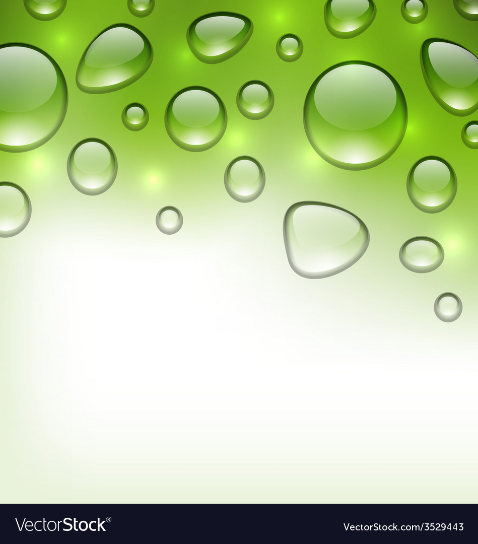 Water abstract green background with drops place vector | Price: 1 Credit (USD $1)