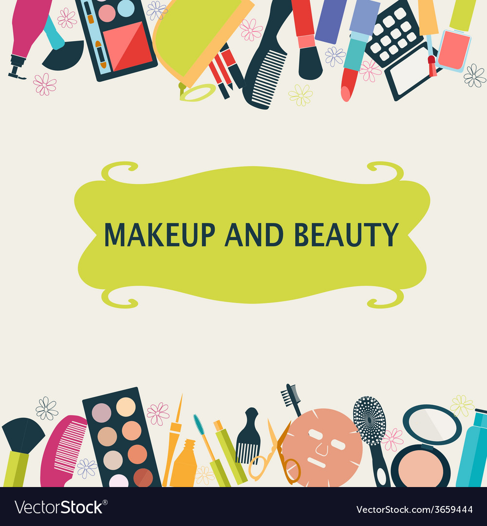 Beauty and fashion make up vector | Price: 1 Credit (USD $1)