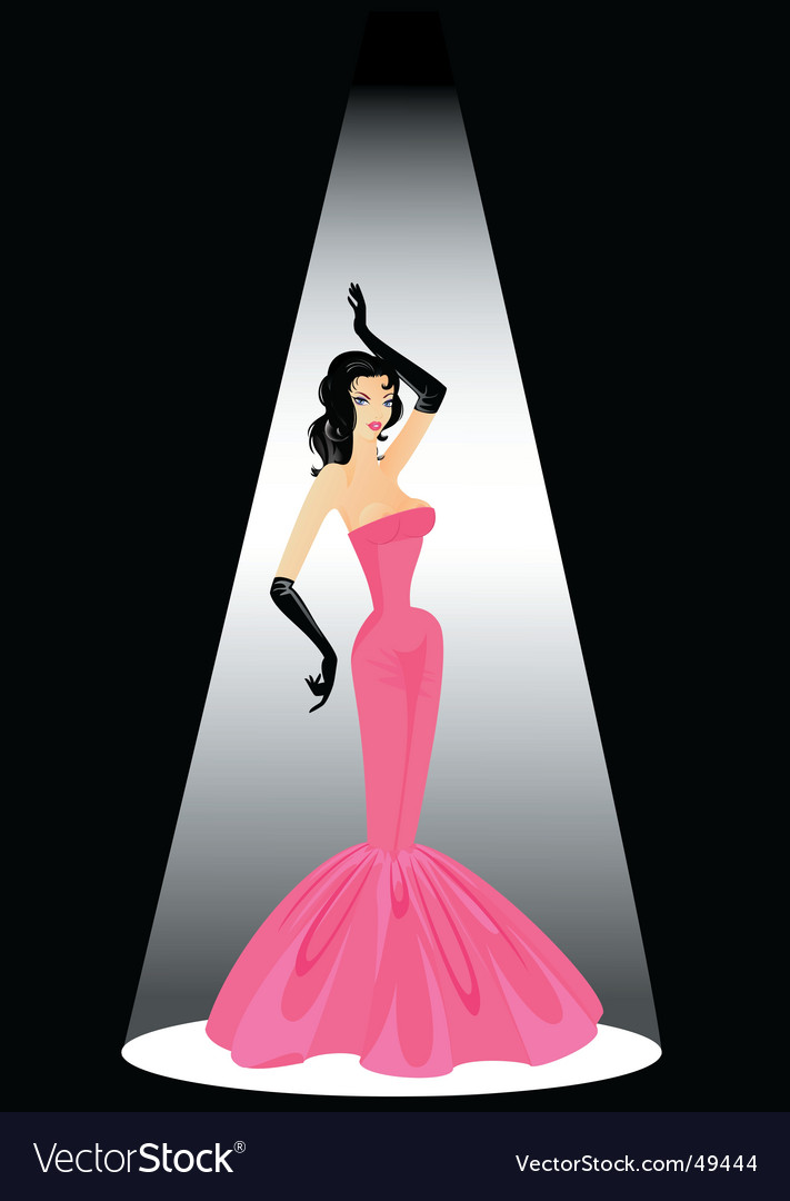 Burlesque girl vector | Price: 3 Credit (USD $3)