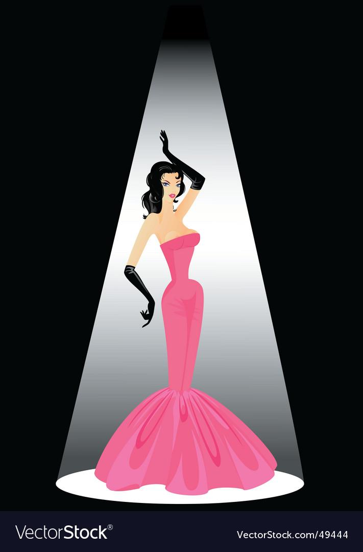Burlesque girl vector | Price: 3 Credit (USD $3)