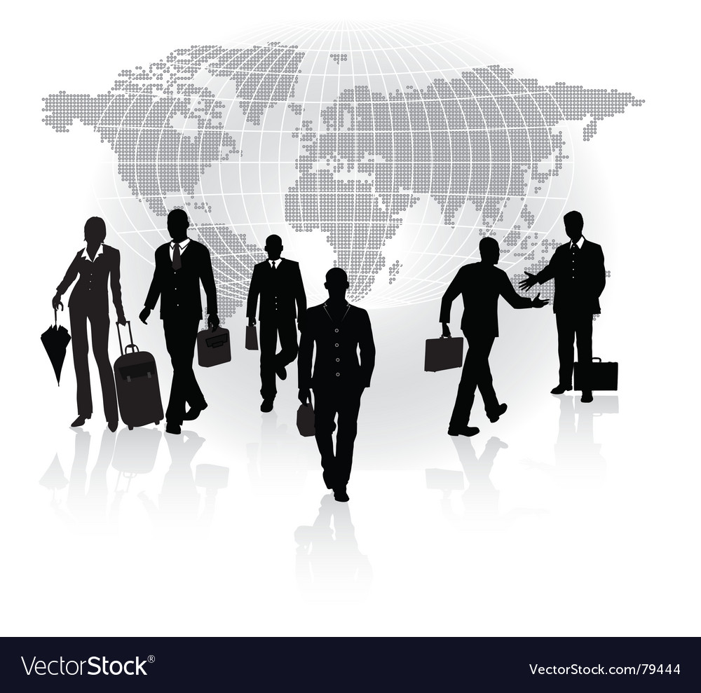 Business in motion vector | Price: 1 Credit (USD $1)
