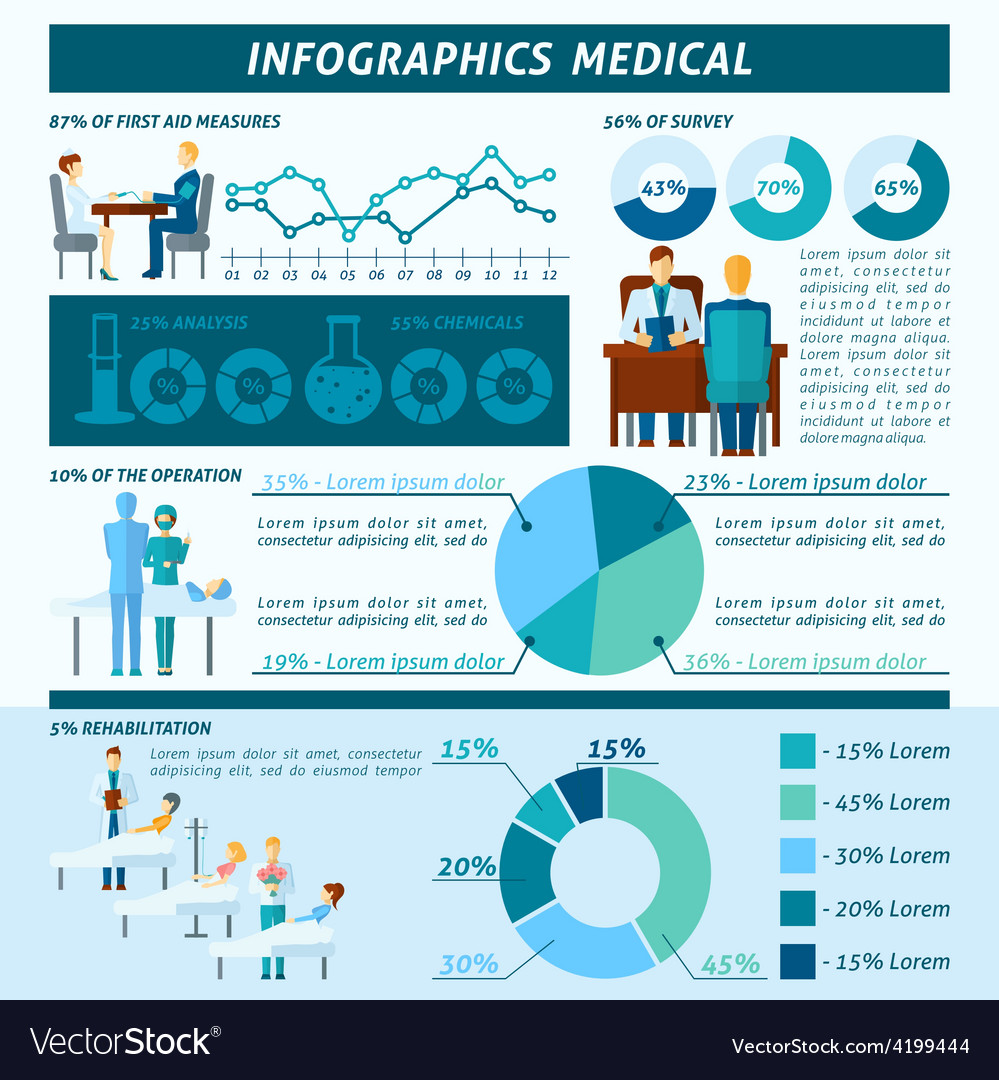 Doctor infographic set vector | Price: 1 Credit (USD $1)