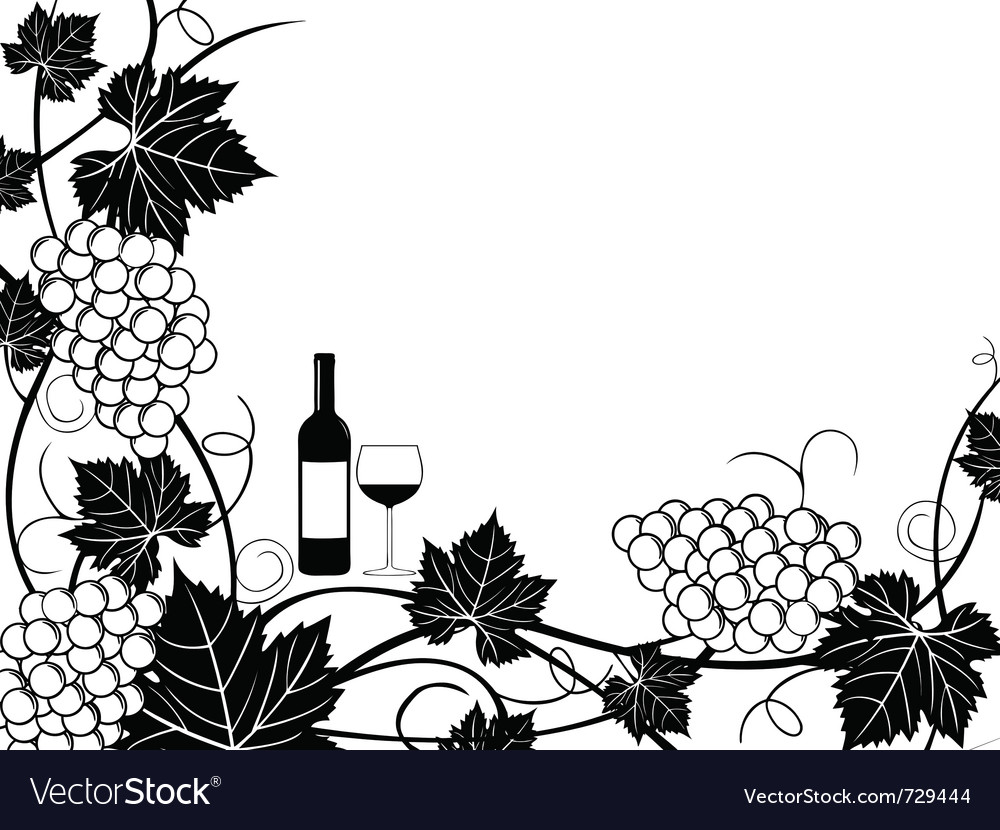 Grapes frame vector | Price: 1 Credit (USD $1)