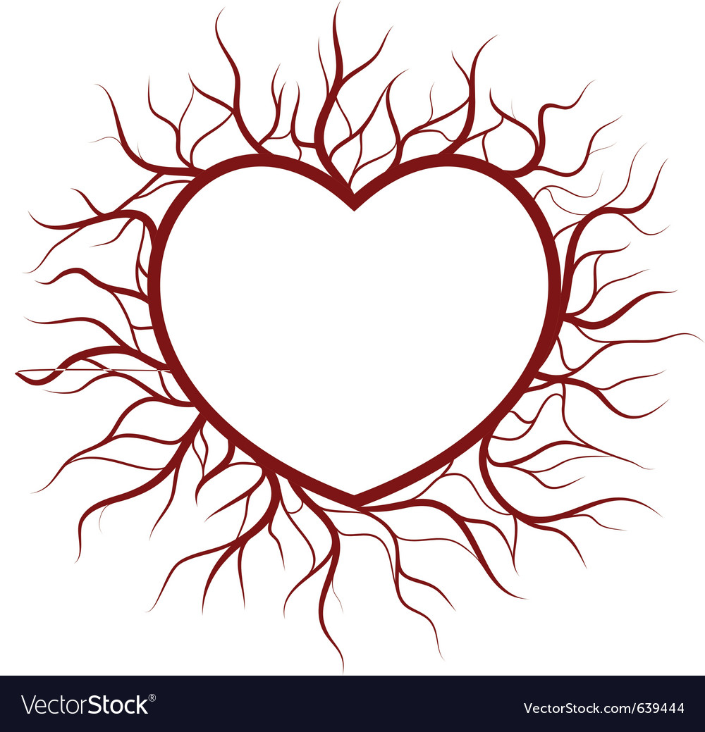 Heart in veins nimbus vector | Price: 3 Credit (USD $3)