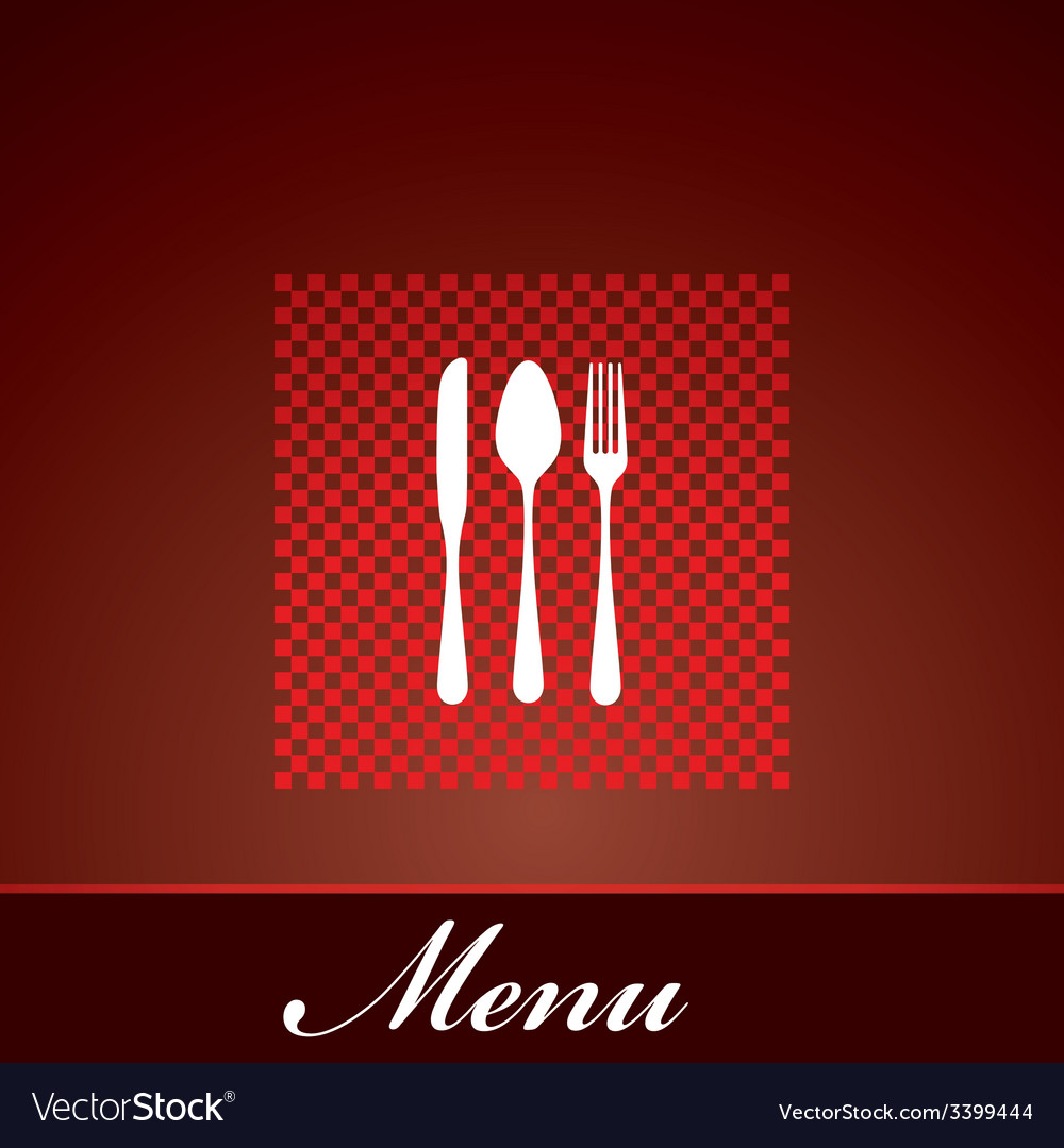 Restaurant menu design with knife spoon and fork vector | Price: 1 Credit (USD $1)