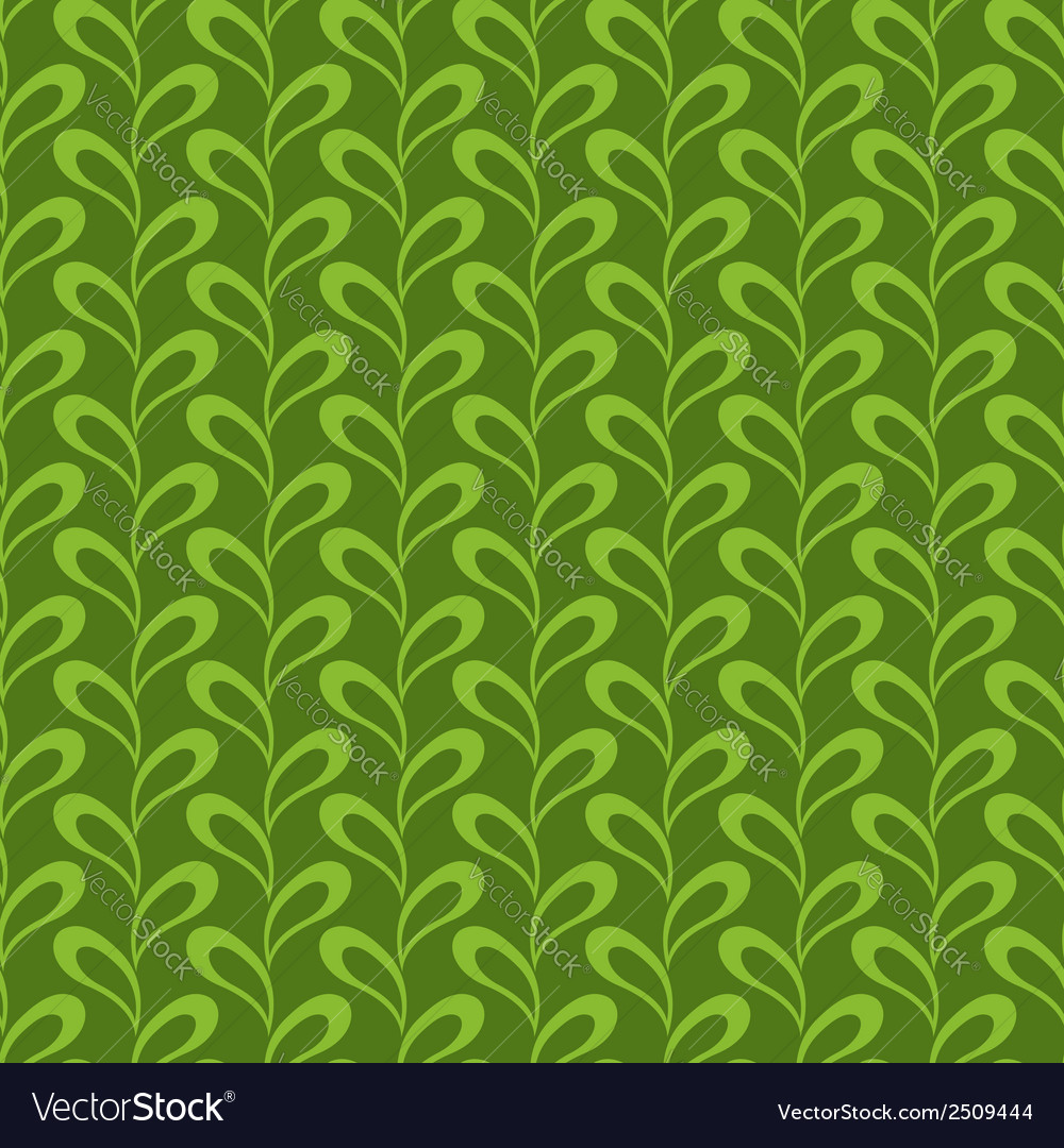 Seamless abstract leaves pattern vector | Price: 1 Credit (USD $1)